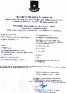 surat izin usaha